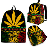 Black and Gold Ganja Backpack -Music Festival Essentials-1StopFestyShop.com
