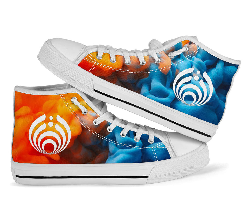 Bassnectar Fire & Ice High Top Shoes -Music Festival Essentials-1StopFestyShop.com