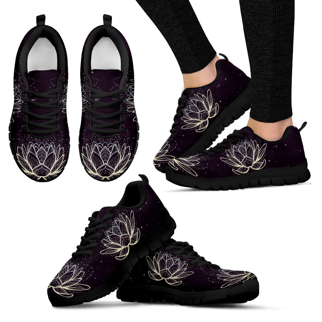 Lotus Flower Festival Sneaker Shoes -Music Festival Essentials-1StopFestyShop.com