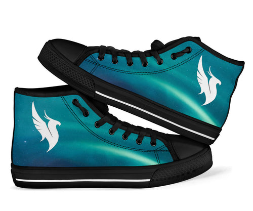 Illenium Sea Blue High Top Shoes -Music Festival Essentials-1StopFestyShop.com