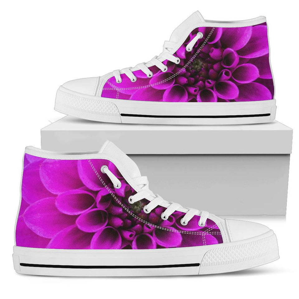 Purple Floral High Top Festival Sneaker Shoes -Music Festival Essentials-1StopFestyShop.com