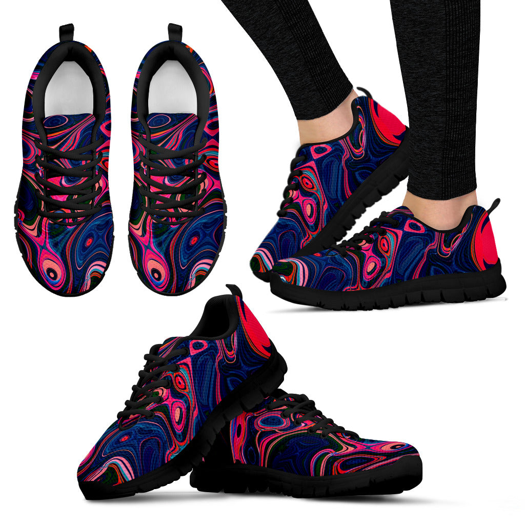 Red & Blue Swirl Festival Sneaker Shoes -Music Festival Essentials-1StopFestyShop.com