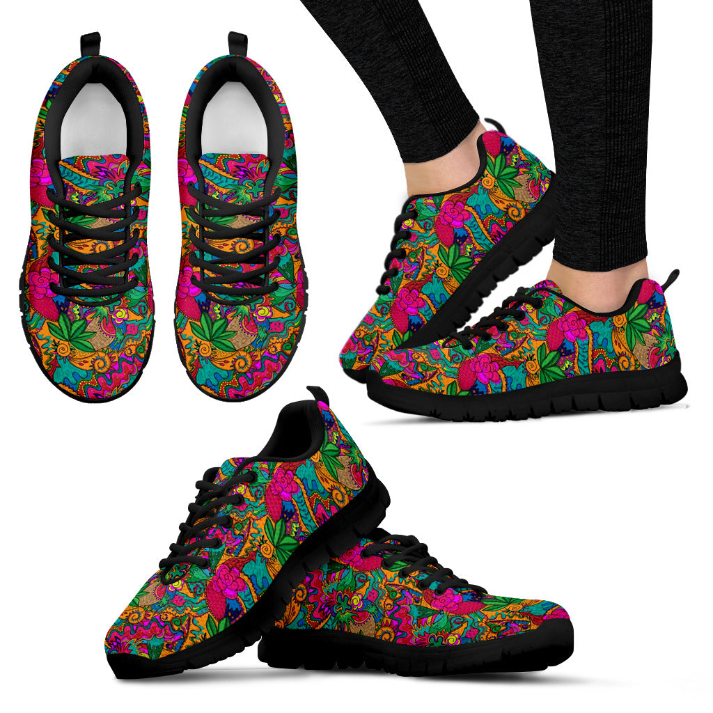 Psychedelic Colorful Sneaker Shoes -Music Festival Essentials-1StopFestyShop.com