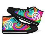 Porter Robison Tie Dye High Top Festival Sneaker Shoes