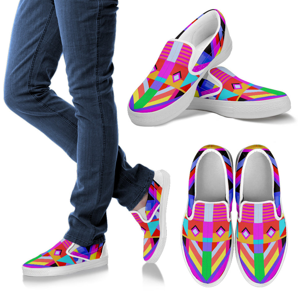 Pink Eye Women's Slip On Shoes -Music Festival Essentials-1StopFestyShop.com