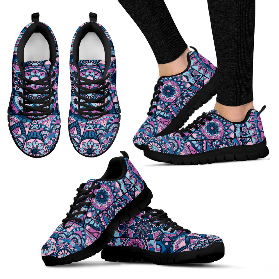 Blue Mandala Festival Sneaker Shoes -Music Festival Essentials-1StopFestyShop.com