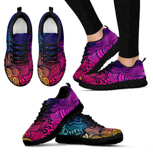 Rainbow Swirls Festival Sneaker Shoes -Music Festival Essentials-1StopFestyShop.com