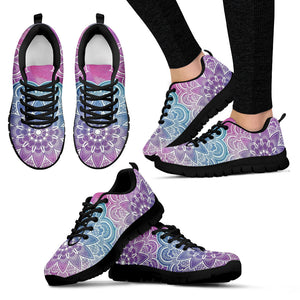 Faded Mandala Women's Sneakers -Music Festival Essentials-1StopFestyShop.com