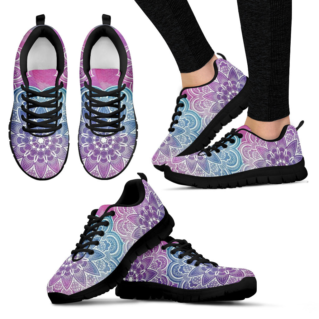 1Stop Festy Supply Shop  Faded Mandala Women's Sneaker Shoes