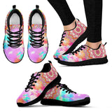 Water Color Mandala Festival Sneaker Shoes -Music Festival Essentials-1StopFestyShop.com