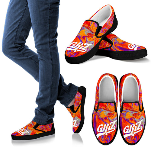 Griz Swirl Slip On Shoes -Music Festival Essentials-1StopFestyShop.com