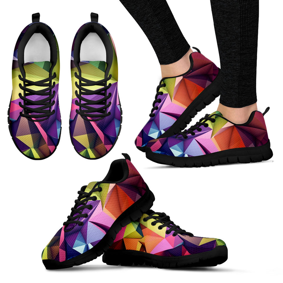 Abstract Geometric Festival Sneaker Shoes -Music Festival Essentials-1StopFestyShop.com