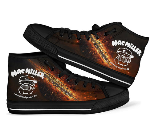 Mac Miller Milky Way High Top Shoes -Music Festival Essentials-1StopFestyShop.com
