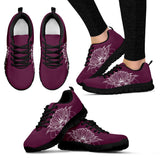 Lotus Flower Violet Festival Sneaker Shoes -Music Festival Essentials-1StopFestyShop.com