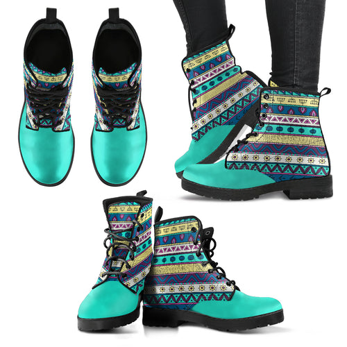 Turquoise Stripe Festival Boots - 1Stop Festy Supply Shop