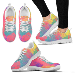 Rainbow Water Color Festival Sneaker Shoes -Music Festival Essentials-1StopFestyShop.com