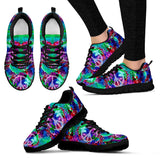 Peace Sign Tie Dye Festival Sneaker Shoes -Music Festival Essentials-1StopFestyShop.com