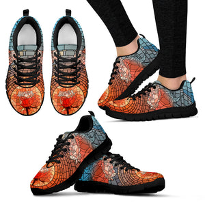 Stained Glass Festival Sneaker Shoes -Music Festival Essentials-1StopFestyShop.com