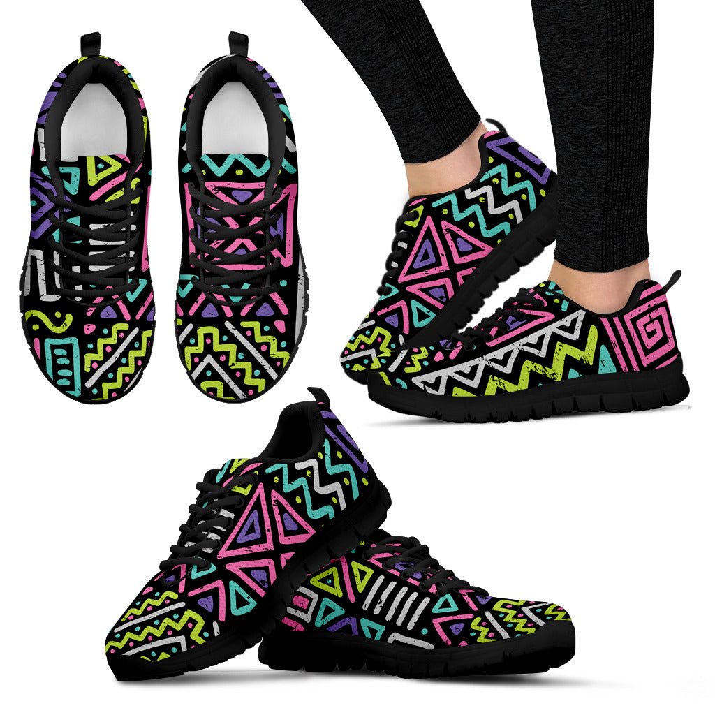 Colorful Pattern Festival Sneaker Shoes -Music Festival Essentials-1StopFestyShop.com