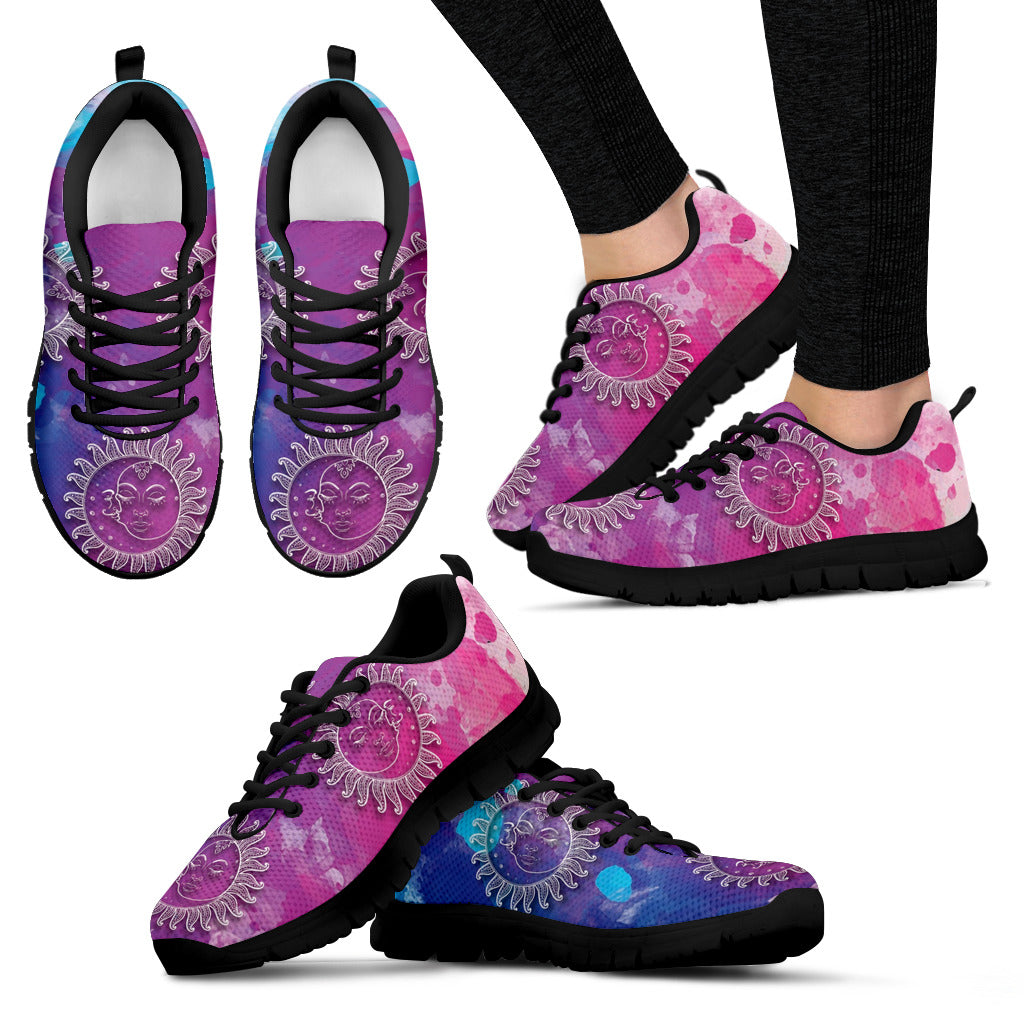 Purple Sun Festival Sneaker Shoes -Music Festival Essentials-1StopFestyShop.com