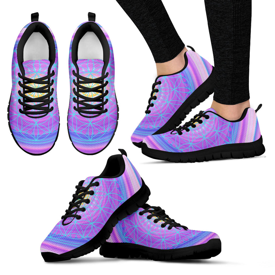 Purple Pattern Festival Sneaker Shoes -Music Festival Essentials-1StopFestyShop.com