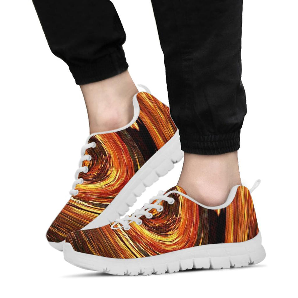 Orange Spiral Festival Sneaker Shoes -Music Festival Essentials-1StopFestyShop.com