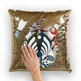 Bassnectar Hummingbird Sequin Pillow Cover -Music Festival Essentials-1StopFestyShop.com