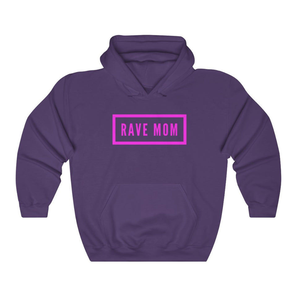 Rave Mom Unisex Heavy Blend Hooded Sweatshirt -Music Festival Essentials-1StopFestyShop.com