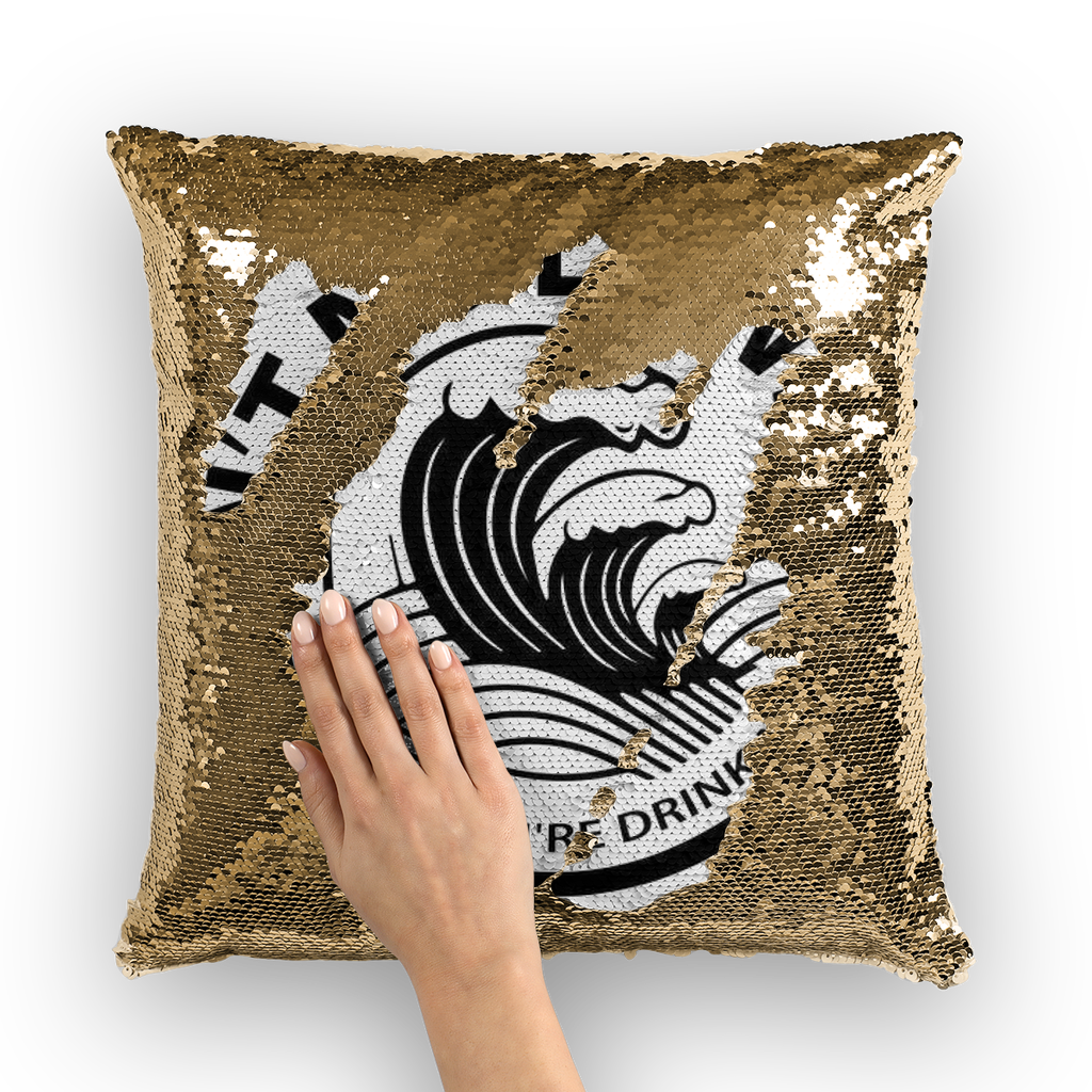 1Stop Festy Supply Shop  White Claw Sequin Pillow Cover