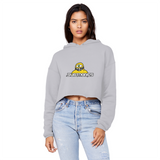 Subtronics Cyclops Army Cropped Raw Edge Boyfriend Hoodie
