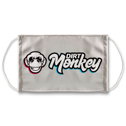 Dirt Monkey Sublimation Face Mask