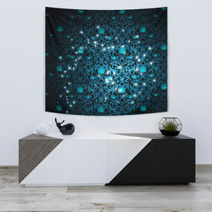 Mystical Stars Wall Tapestry Flowers Background -Music Festival Essentials-1StopFestyShop.com