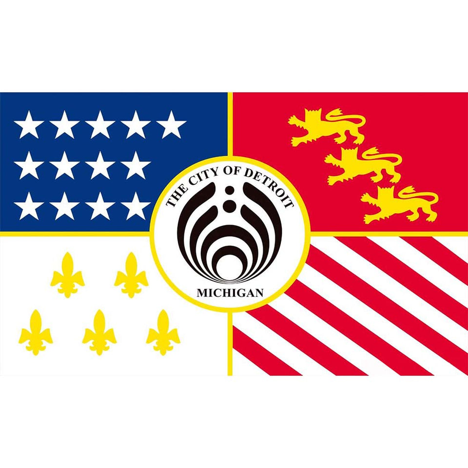 Hot Selling Detroit Bassnectar Flag 3'x5' US state flag Polyeater Decoration , free shipping -Music Festival Essentials-1StopFestyShop.com
