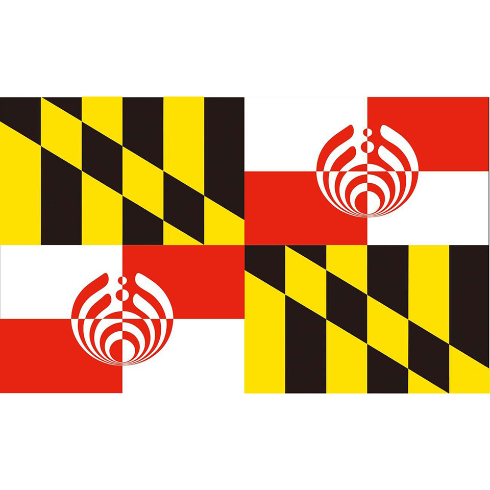 Hot Selling Maryland Bassnectar Flag 3'x5' US state flag Polyeater Decoration , free shipping -Music Festival Essentials-1StopFestyShop.com