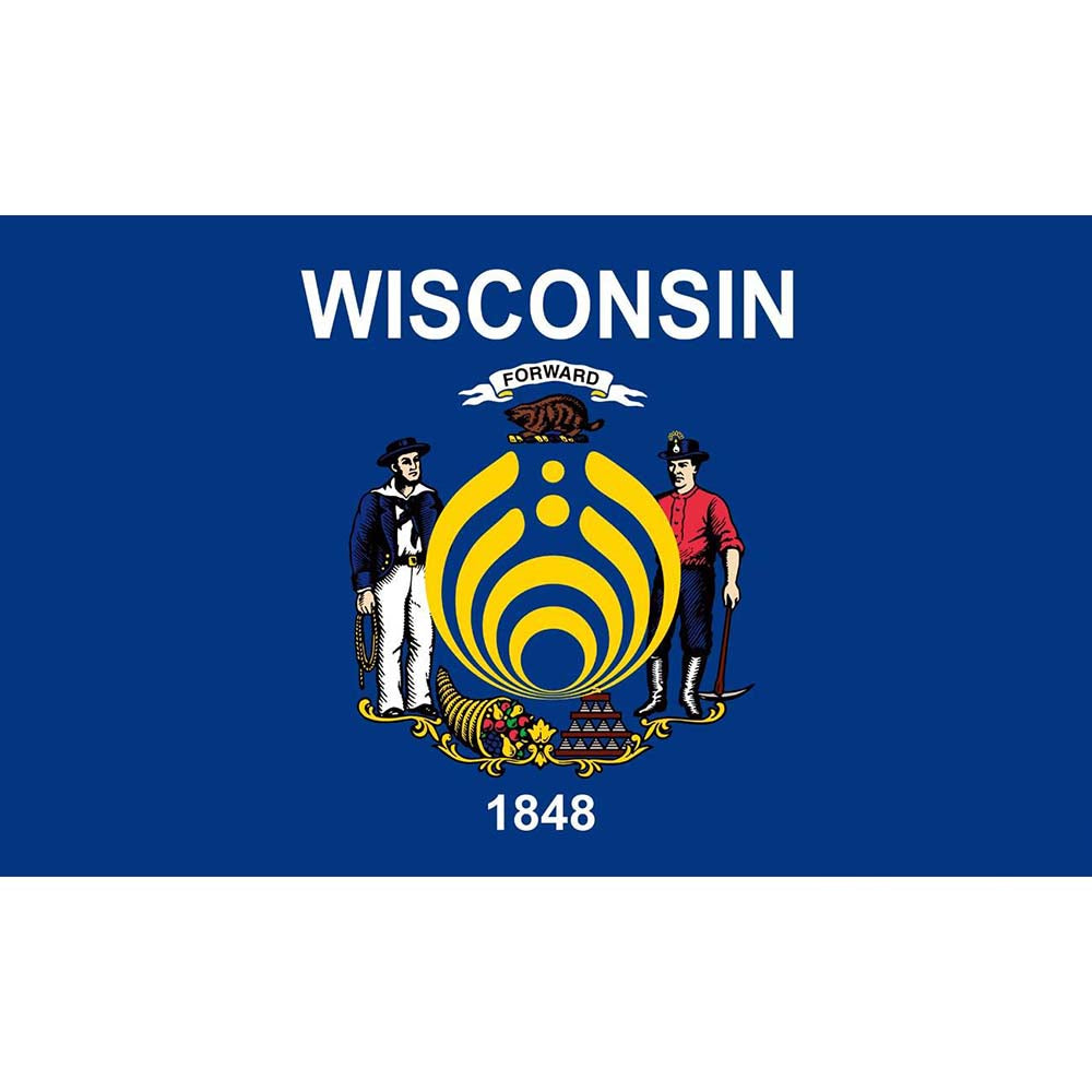 Hot Selling Wisconsin Bassnectar Flag 3'x5' US state flag Polyeater Decoration , free shipping -Music Festival Essentials-1StopFestyShop.com