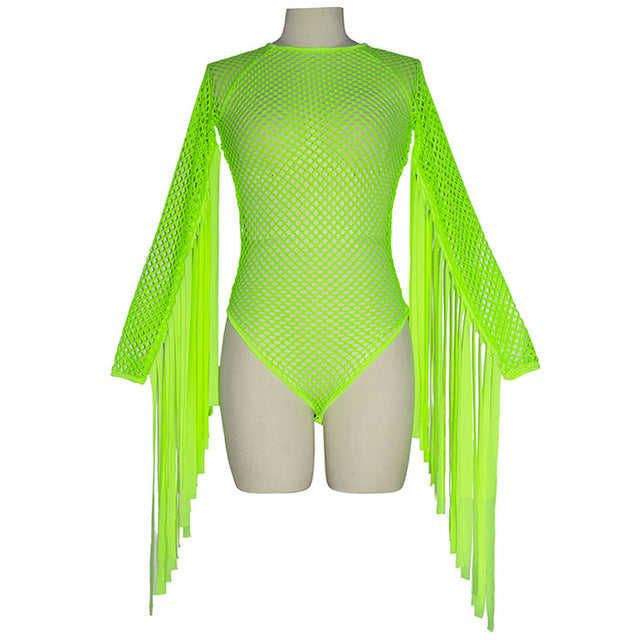 1Stop Festy Supply Shop  Rave Neon Mesh One Piece Festival Bodsuit