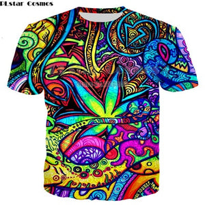 Psychedelic 3D All Over Festival T-Shirts -Music Festival Essentials-1StopFestyShop.com