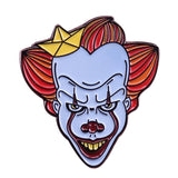Pennywise clown pin paper boat brooch Stephen King IT horror movie badge creepy Halloween gift -Music Festival Essentials-1StopFestyShop.com