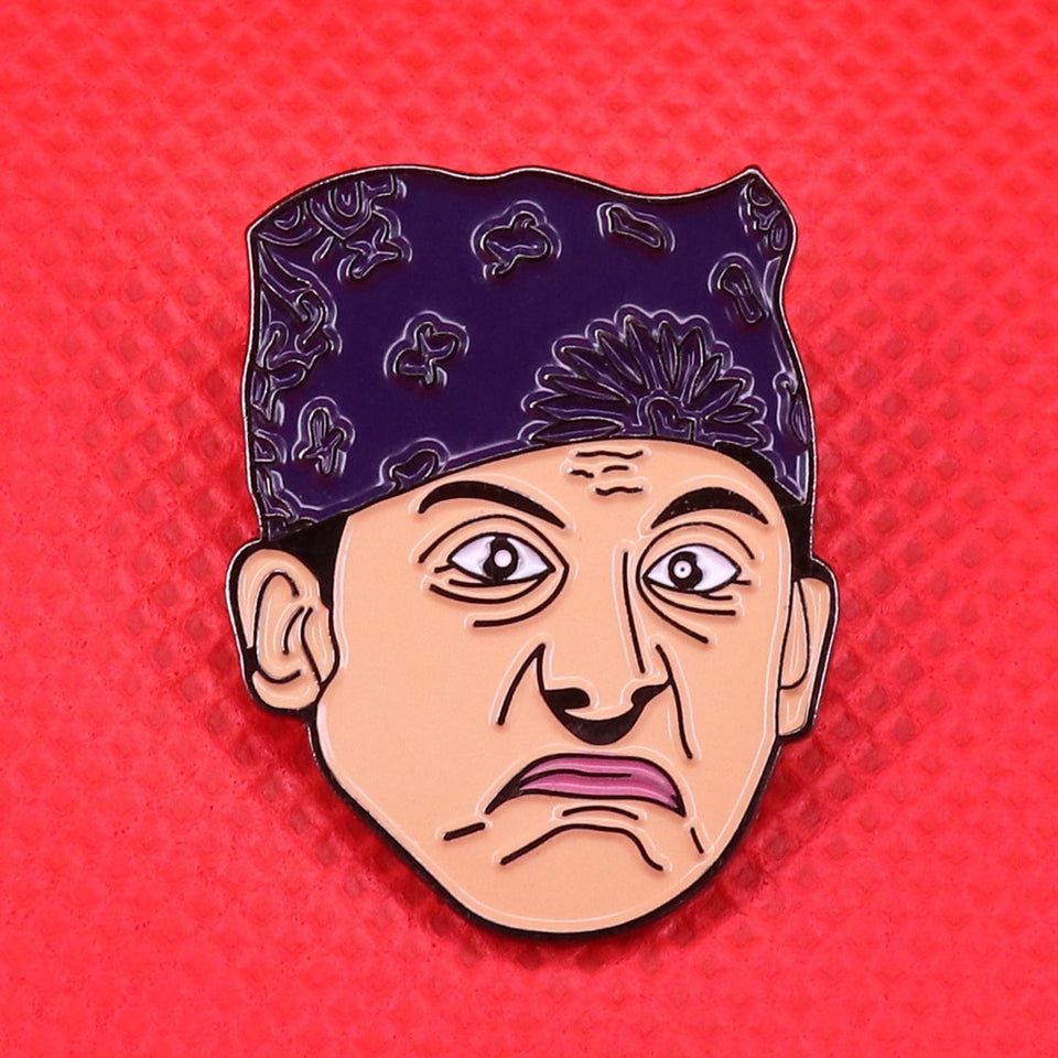 Prison Mike The Office Micheal Scott  Enamel Hat Pin Collectible Metal Lapel Pin -Music Festival Essentials-1StopFestyShop.com