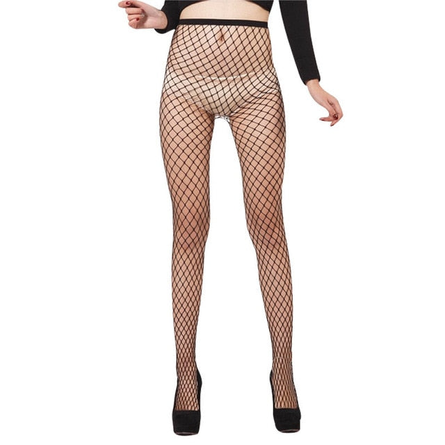 Women's Net Fishnet Bodystockings Pattern Pantyhose Tights Breathable Stockings -Music Festival Essentials-1StopFestyShop.com