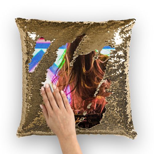 Bassnectar Sequin Pillow Cover - 1Stop Festy Supply Shop