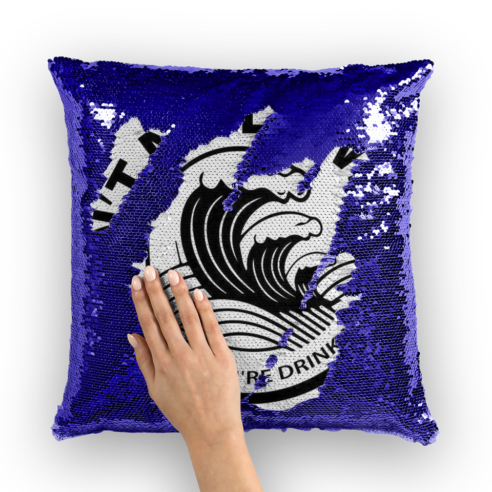 White Claw Sequin Pillow Cover -Music Festival Essentials-1StopFestyShop.com