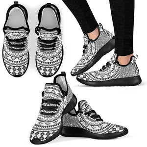 Tree of Life Black and White Sneaker Shoes -Music Festival Essentials-1StopFestyShop.com