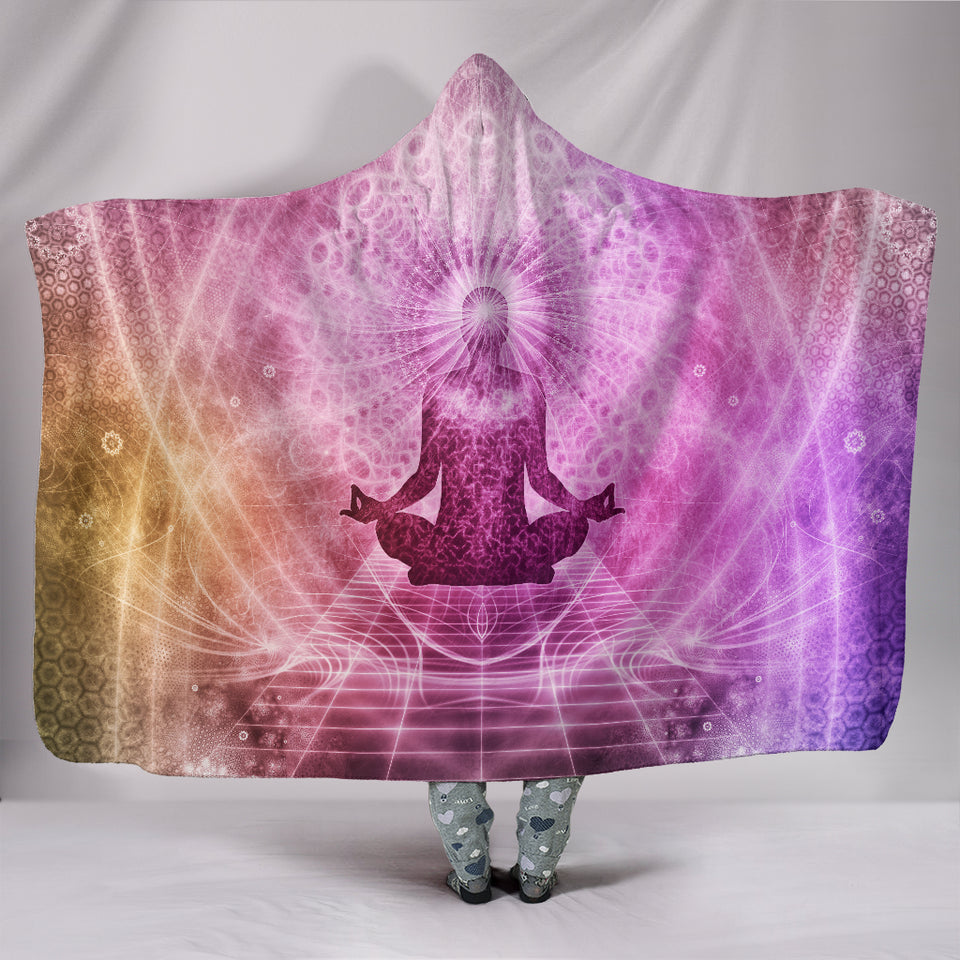 Meditation Hooded Blanket -Music Festival Essentials-1StopFestyShop.com