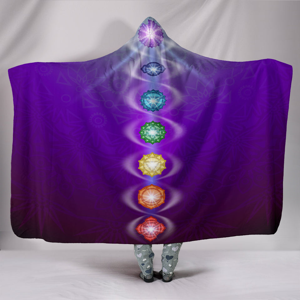Chakra Hooded Blanket -Music Festival Essentials-1StopFestyShop.com