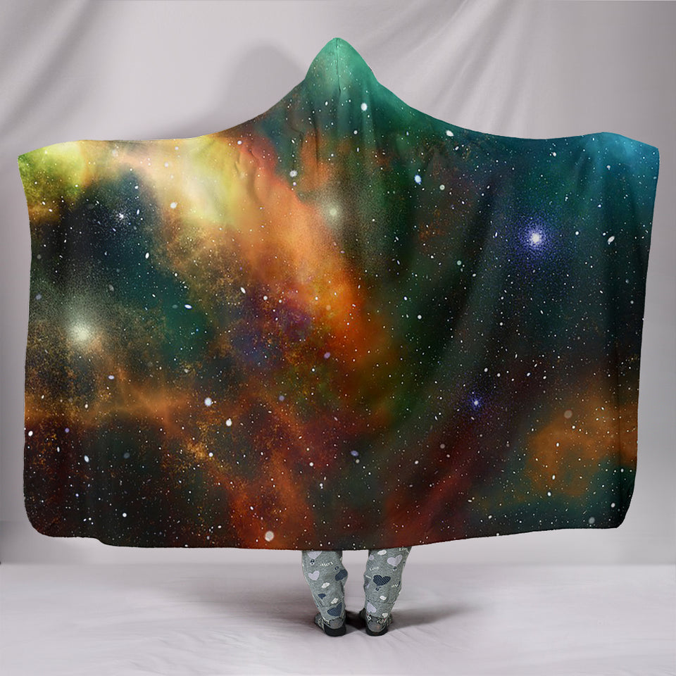 Stunning Galaxy Hooded Blanket -Music Festival Essentials-1StopFestyShop.com
