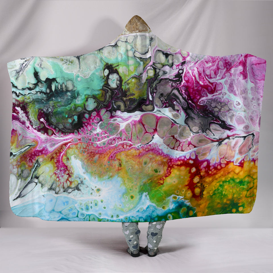 1Stop Festy Supply Shop  ABSTRACT HOODED BLANKET