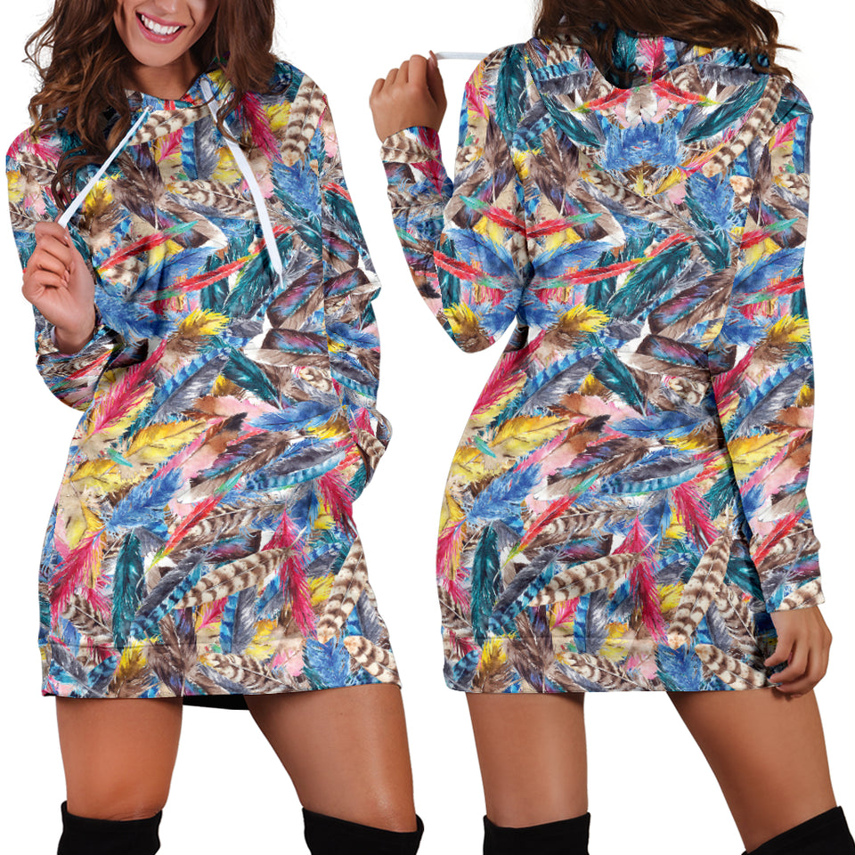 Colorful Burst Festival Hoodie Dress -Music Festival Essentials-1StopFestyShop.com