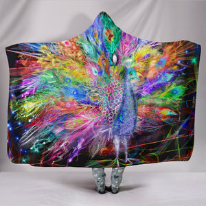 1Stop Festy Supply Shop  Peacock Nexsus Hooded Blanket