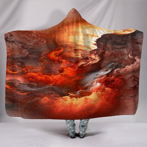 NP Orange Universe Hooded Blanket -Music Festival Essentials-1StopFestyShop.com